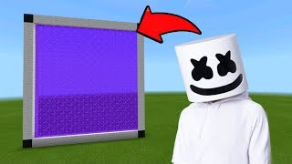 Minecraft Pe How To Make a Portal To The Marshmello Dimension - Mcpe Portal To The Marshmello!!!