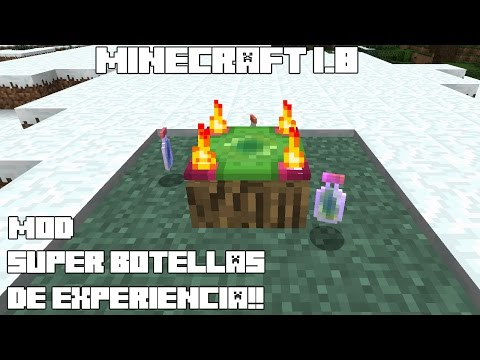 Minecraft 1.8 MOD SUPER BOTELLAS DE EXPERIENCIA! Exp-Translation Mod Español!