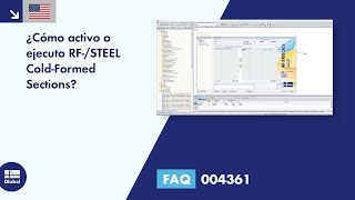 [EN] FAQ 004361 | ¿Cómo activo o ejecuto RF-/STEEL Cold-Formed Sections?
