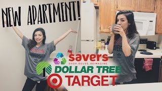 HUGE AFFORDABLE APARTMENT HAUL | DOLLAR TREE, TARGET, SAVERS