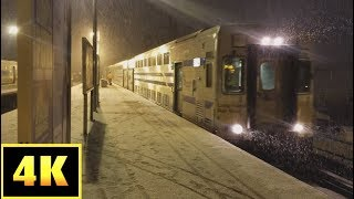 4K/60p:  LIRR #2710 and #5761 at Babylon in the Snow