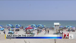 NC beaches focus on safety as crowds show up for July 4th weekend