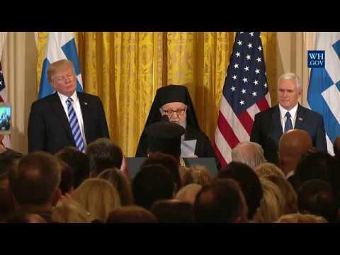 President Trump Hosts a Greek Independence Day Celebration
