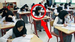 شكت المعلمة من سلوك هذه الطالبة .. و عندما اقتربت منها كانت المفاجئة !!