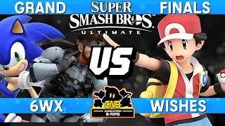 Smash Ultimate Tournament Grand Finals - 6WX (Snake / Sonic) vs Wishes (Pokemon Trainer)  CNB 170
