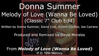 "Donna Summer - Melody of Love (Classic Club Edit) LYRICS - SHM ""Melody of Love"" 1994"