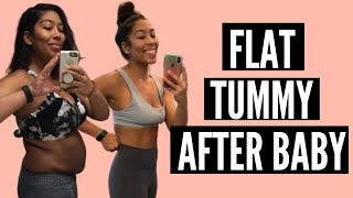 HOW TO GET A FLAT STOMACH AFTER BABY | GET RID OF MUMMY TUMMY | SNATCHED WAIST POSTPARTUM