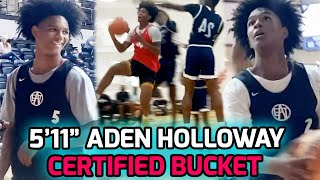 """5'11"""" Sophomore Point Guard Aden Holloway Might Be The CRAFTIEST GUARD In Nation! AAU Highlights 💥"""