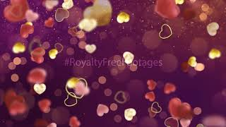 heart background video | Christmas glowing hearts | love motion background loop | heart flying video