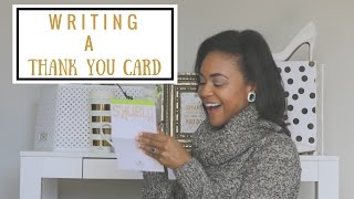 5 Tips To Write The Perfect Thank You Card | How To Be A Lady