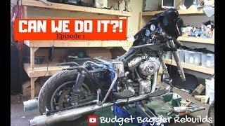 Custom Harley Bagger under 5K //  Episode One-Tear Down //  Budget bagger Rebuilds