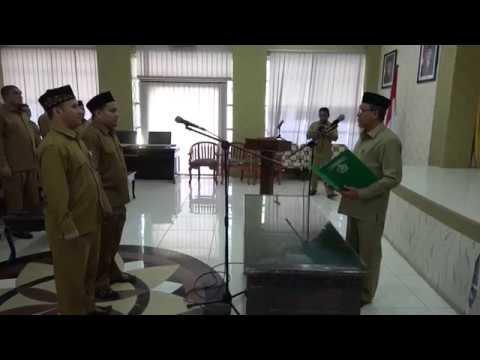 Pelantikan Pejabat Eselon IV di Lingkungan Kanwil Kemenag Aceh