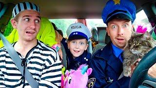 Super Policemen surprise Eli with Dancing Car Ride