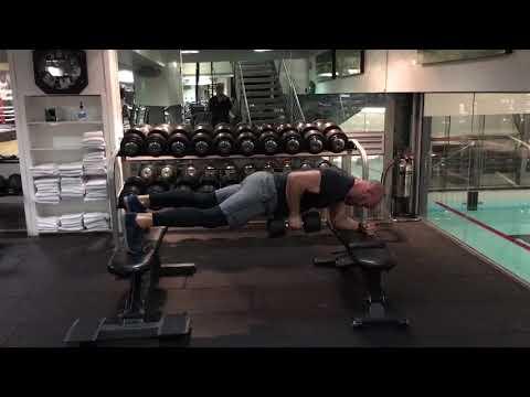 3 point plank position row