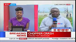 Chopper plunges into Lake Nakuru ferrying allied Jubilee media team heading for campaigns