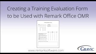 Creating a Training Evaluation Form in Microsoft Word for Remark Office OMR