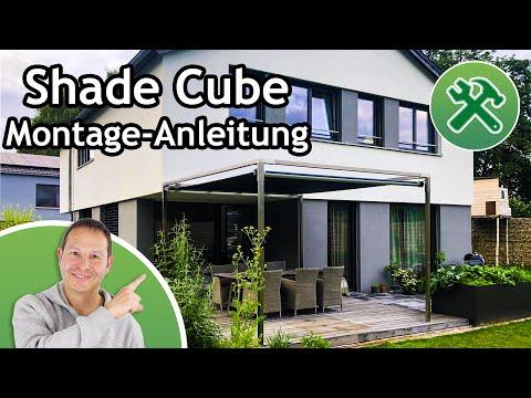 Shade Cube von Shadeone® - die aufrollbare Sonnensegel-Pergola