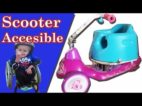 Mini Scooter Accesible Silla de Ruedas eléctrica  bajo costo para niños con discapacidad