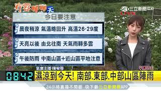 氣溫漸升!氣象局發布6縣市大雨特報|三立新聞台