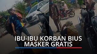 VIDEO Viral Ibu-ibu Jadi Korban Bius Masker Gratis, Sepeda Motor Korban Raib