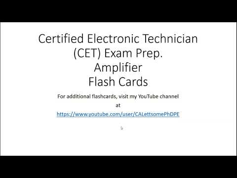 Certified Electronic Technician CET Exam Prep Amplifier Flash ...
