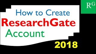 How to Create Researchgate Account for Free -2018