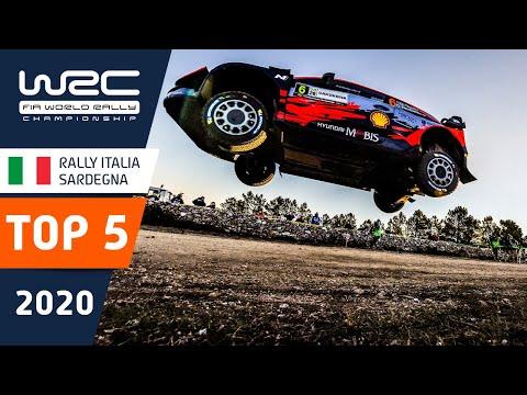 WRC ラリー・イタリア・サルディニア のラリーで起きたトップ5のシーンをまとめたダイジェスト映像