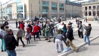 London's First International Pillow Fight