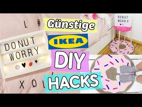 3 günstige IKEA DIY Hacks: Leuchtbox ✨, Donut Teppich 🍩 & Plüsch-Hocker 💓 selber machen