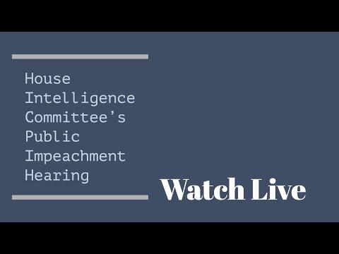 LIVE: House Intelligence impeachment hearing with Alexander Vindman and Jennifer Williams