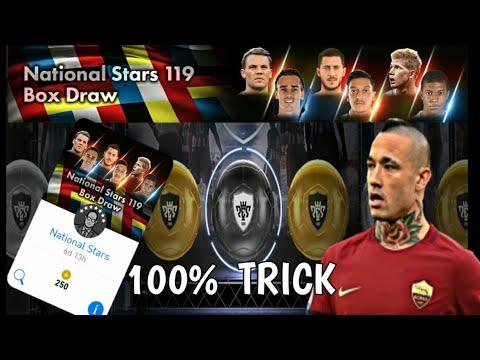 National Stars 119 Box Draw | bLACK bALL tRICK !!! pES 18