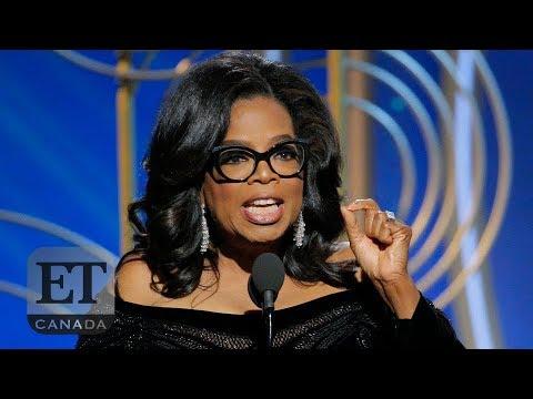 Oprah's Powerful Golden Globes Speech   GOLDEN GLOBES