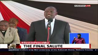 Hon. William Ruto pays tribute to Former President Daniel Moi