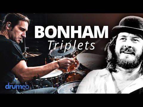 How To Play John Bonham Triplets (Drum Lesson)