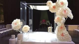 Paper Flowers Chuppah/ Wedding Decor Paper Flowers Sydney / Chuppah Decoration With Paper Flowers