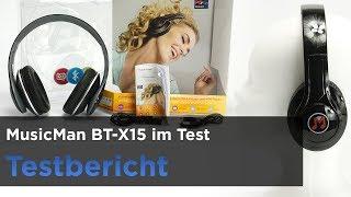 MusicMan BT-X15 im Test - Bluetooth-Kopfhörer mit Radio und SD-Kartenslot