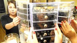 Clear Cube Make Up Organizer