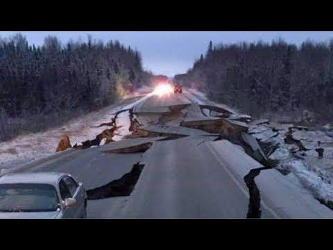 MASSIVE 7.0 EARTHQUAKE SPLITS ANCHORAGE ALASKA 2018 | MAJOR QUAKE HITS & TSUNAMI WARNING COMPILATION