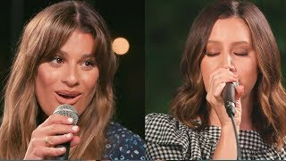 "Lea Michele & Ashley Tisdale Team Up For ""Dancing On My Own"" Cover"