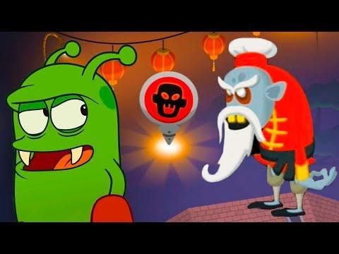 ОХОТА на ЗОМБИ #11 Босс и Темная лагуна. Кид играет в веселую игру по мультику Zombie Catchers