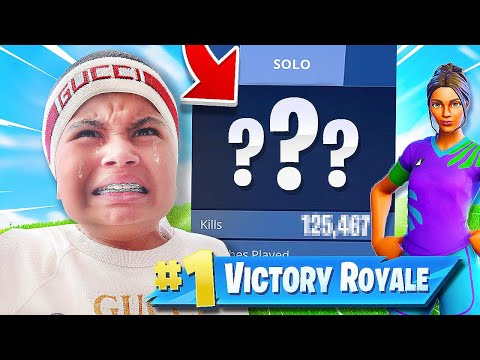 I EXPOSED Kaylen's Fortnite Stats (KID GETS MAD)