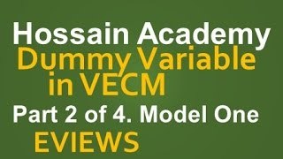 Dummy in VECM. Model One. Part 2 of 4. EVIEWS