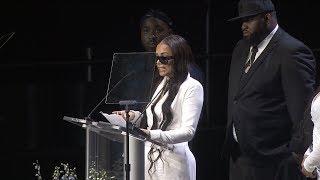 Lauren London Speaks At Nipsey Hussles Memorial Service