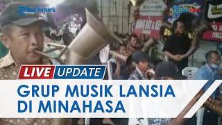 Aksi Pemain Musik Lansia Kelompok Bambu Garuda Mas di Sulut, Mampu Tiup Alat Musik Berjam-jam