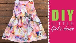How To Sew A Basic Girls Dress | DRESSMAKING