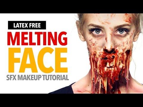 Melting face Halloween makeup tutorial