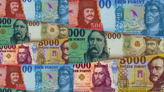 Hungarian forint banknotes | 500 1000 2000 5000 10000 and 20000 forints currency | Money in Hungary