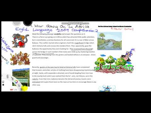 A Strange War Is Going On In Africa Part1 June 2009 W A S S C E English Language Comprehension Passa