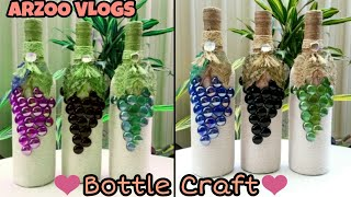 DIY | Bottle Decoration With Marble | Marbles Crafts | Glass Pabbles Craft | ARZOO VLOGS