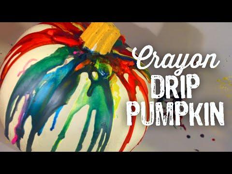 DIY Crayon Drip Pumpkin
